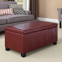 Simpli Home Dover Rectangular Storage Ottoman Bench