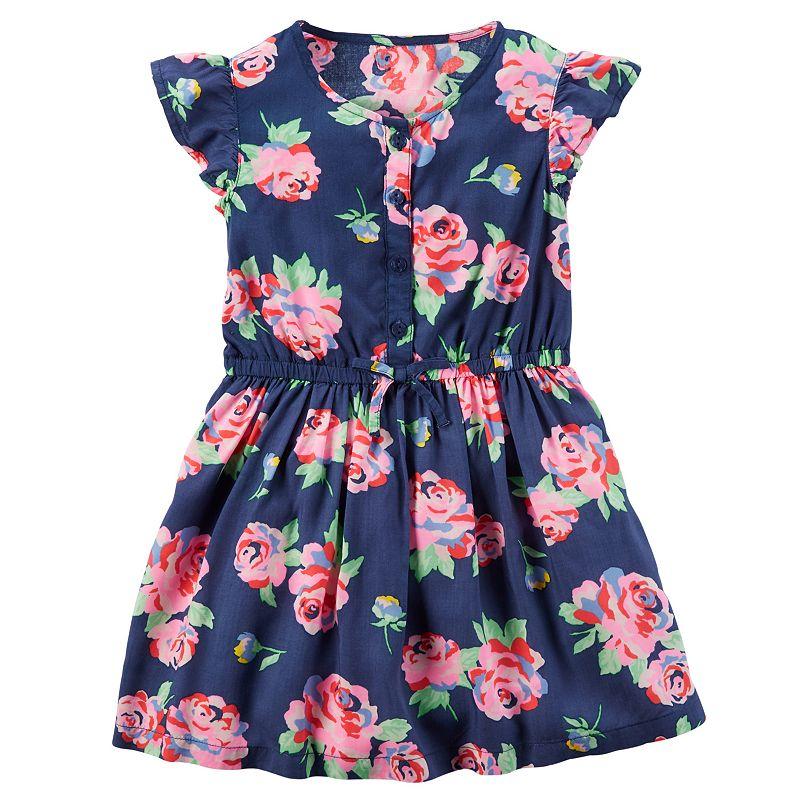 Toddler Girl Carter's Woven Floral Dress