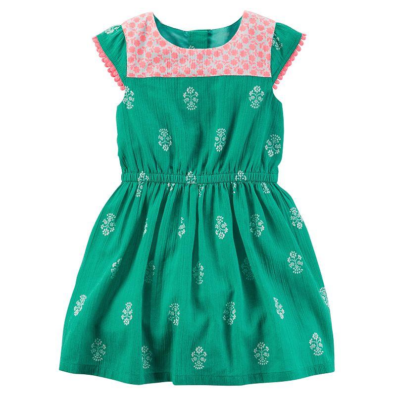 Toddler Girl Carter's Printed Crinkle Dress