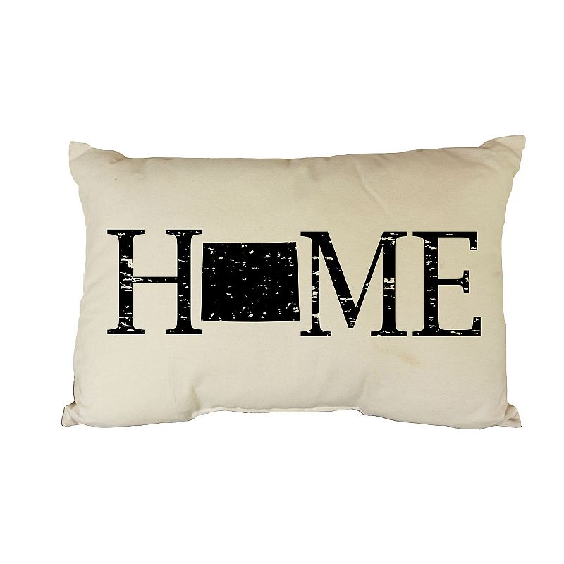 HOME STATE THROW PILLOW (WHITE)