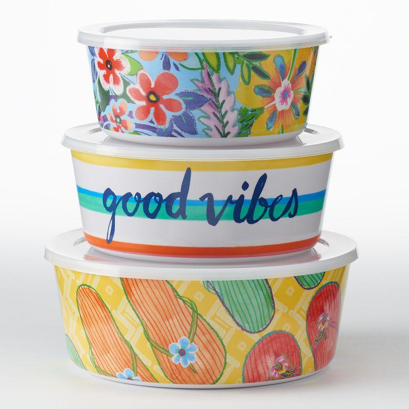 Celebrate Summer Together Brights 3-pc. Melamine Nesting Bowl Set