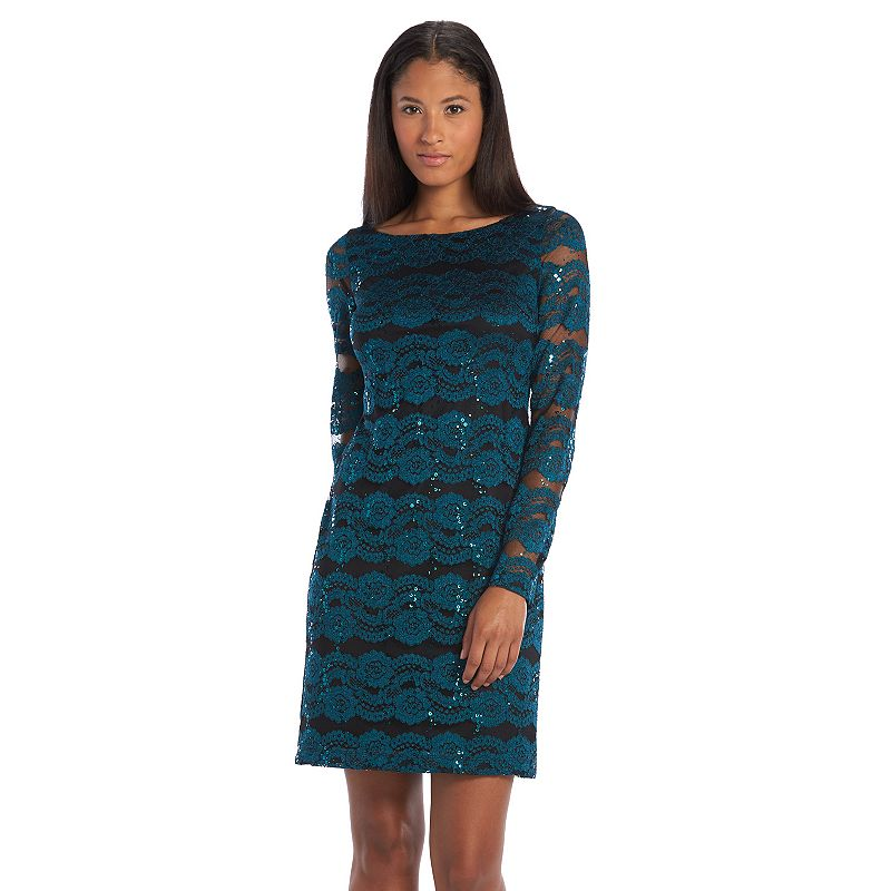 Jessica Howard Embellished Lace Shift Dress - Women's