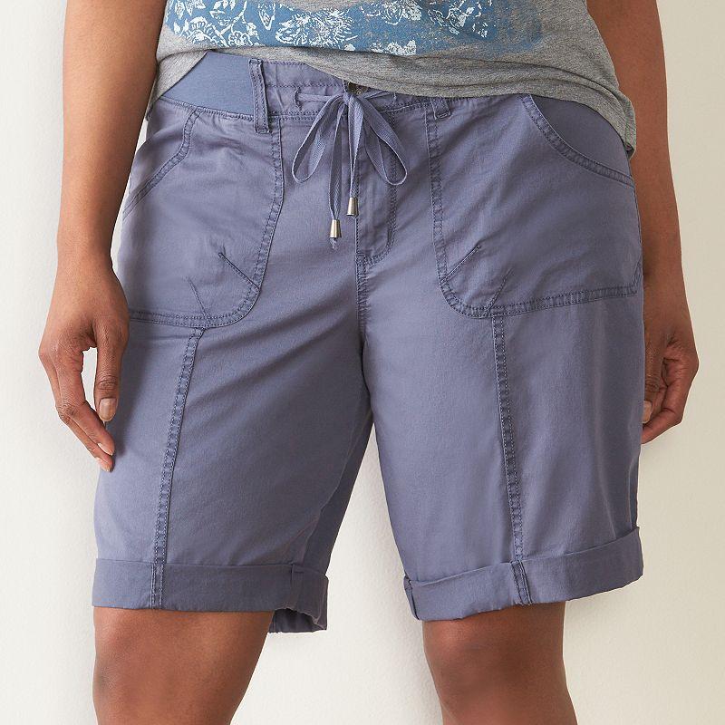 Plus Size SONOMA Goods for Life™ Spring Beach Bermuda Shorts
