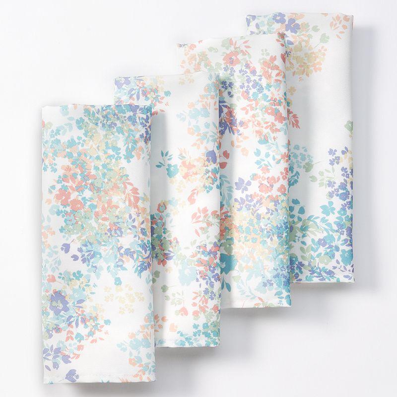 Food Network™ Mini Floral 4-pc. Stain-Resistant Microfiber Napkin Set