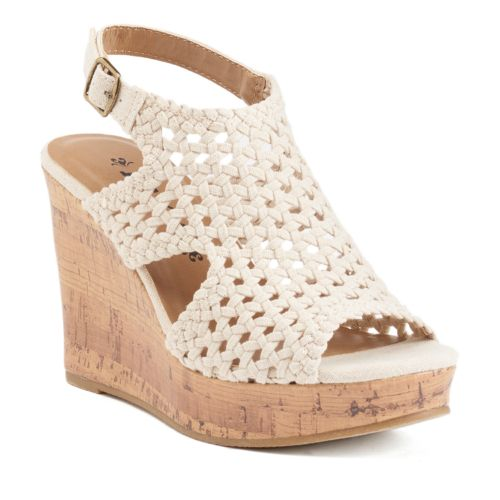 mudd 174 s wedge sandals