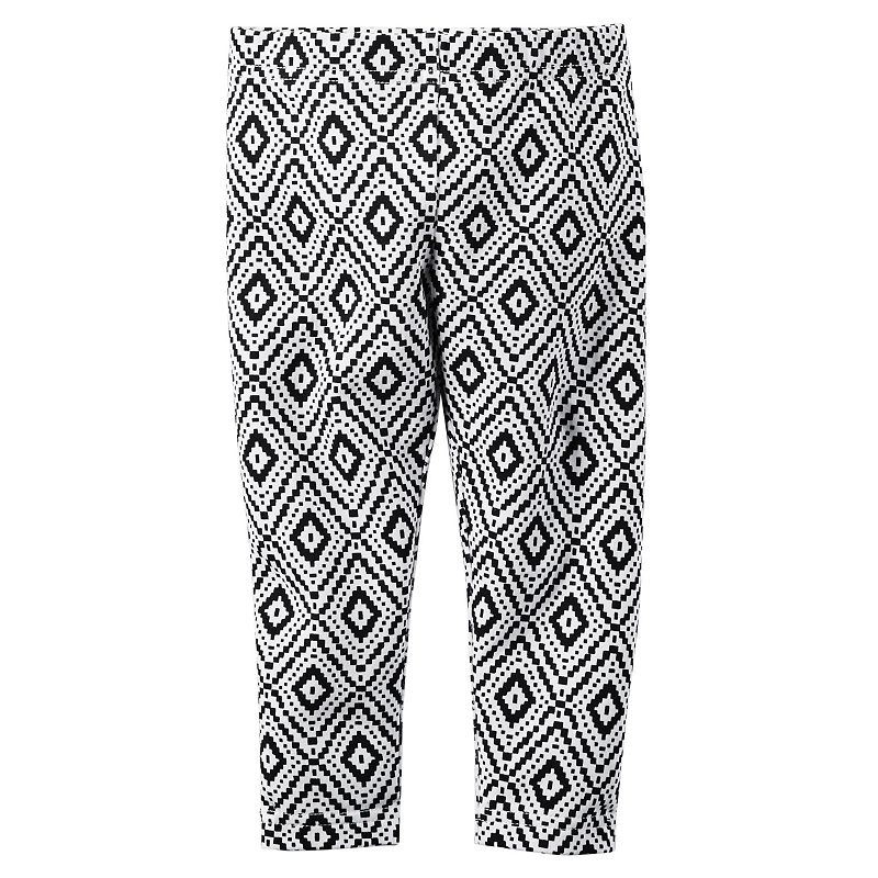 Toddler Girl Carter's Diamond Printed Capri Leggings