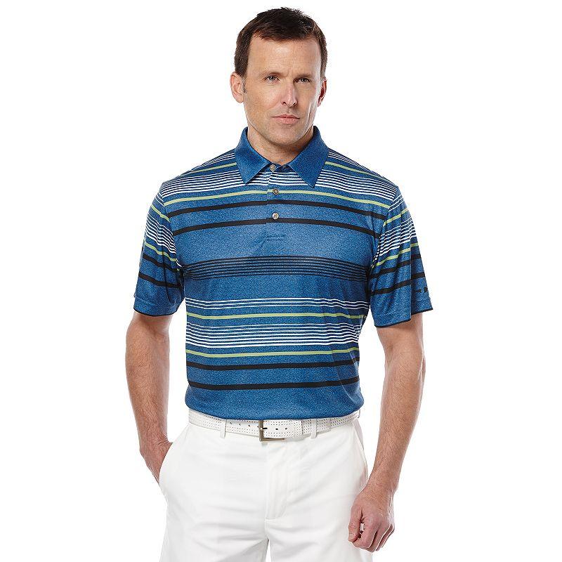 Men's Grand Slam Striped Performance Golf Polo