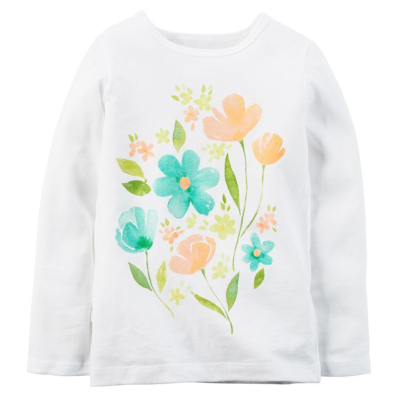 Toddler Girl Carter's Watercolor Floral Tee