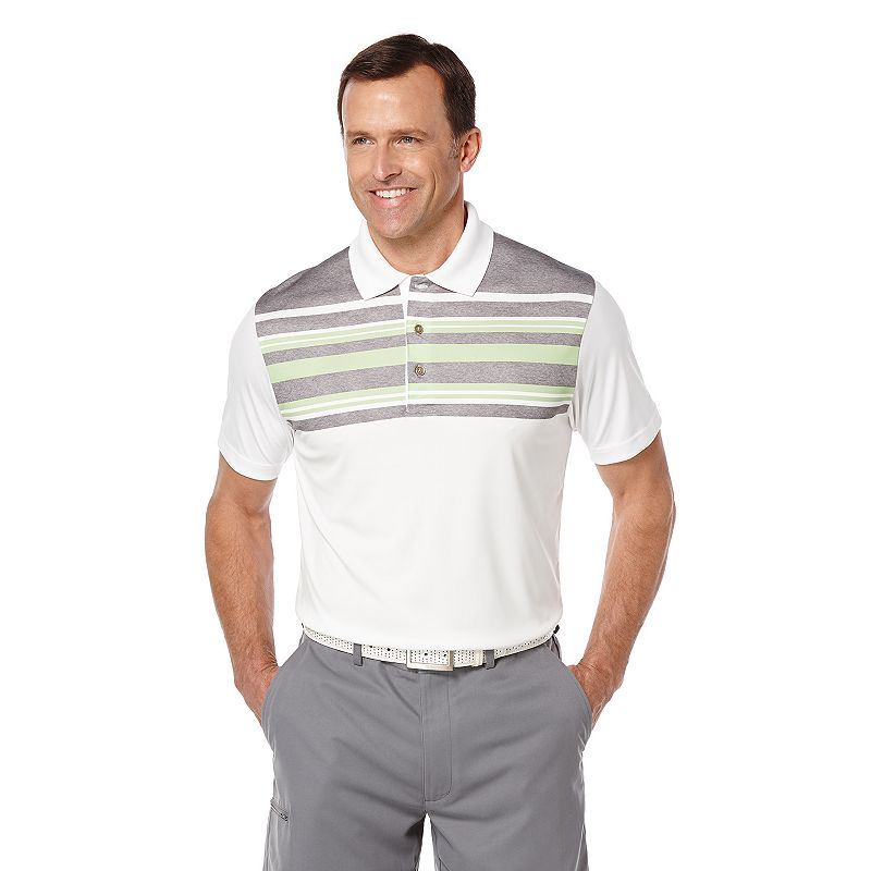 Men's Grand Slam Engineer Chest-Striped Performance Golf Polo