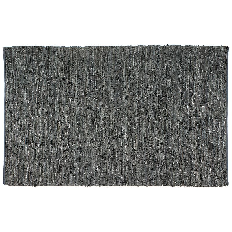 St. Croix Matador Braided Leather Reversible Rug