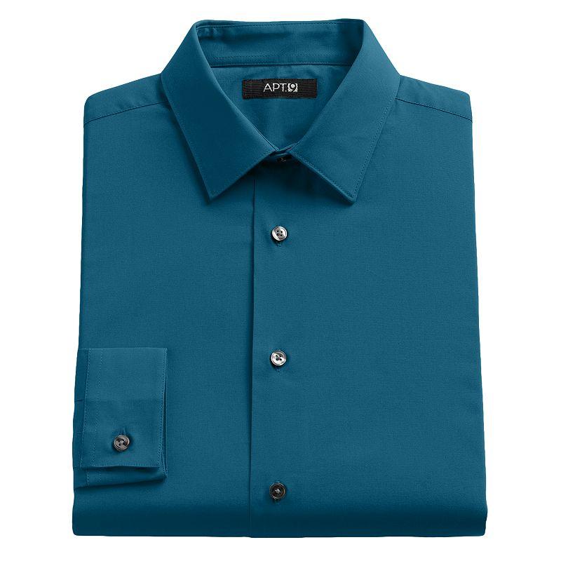 Men's Apt. 9® Slim-Fit Solid Stretch Dress Shirt