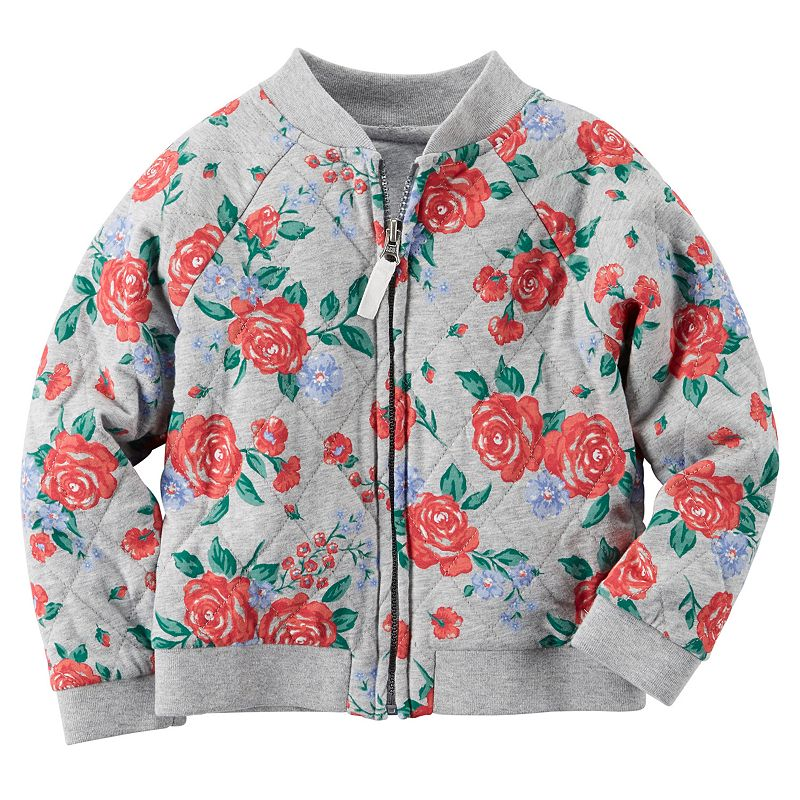 Girls 4-8 Carter's Floral Bomber Jacket