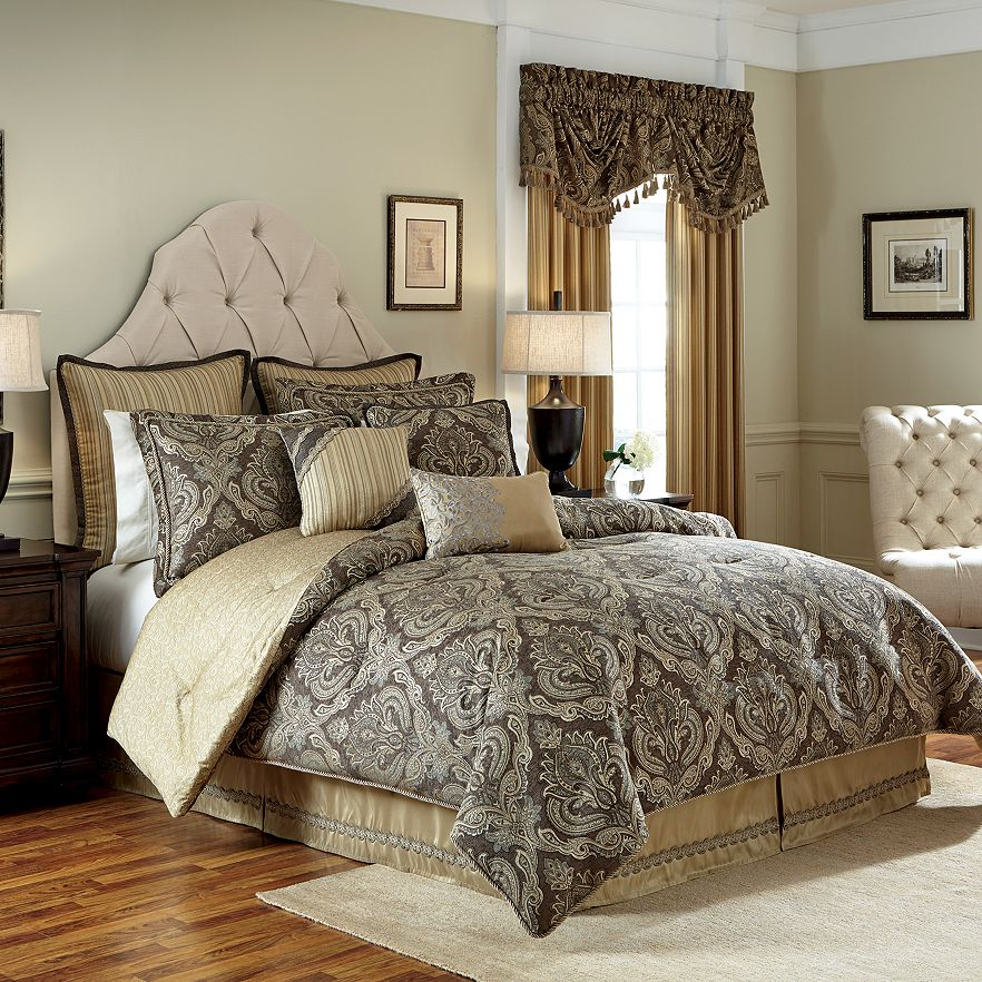 New Estate By Croscill Chenille Damask Ashfield Comforter