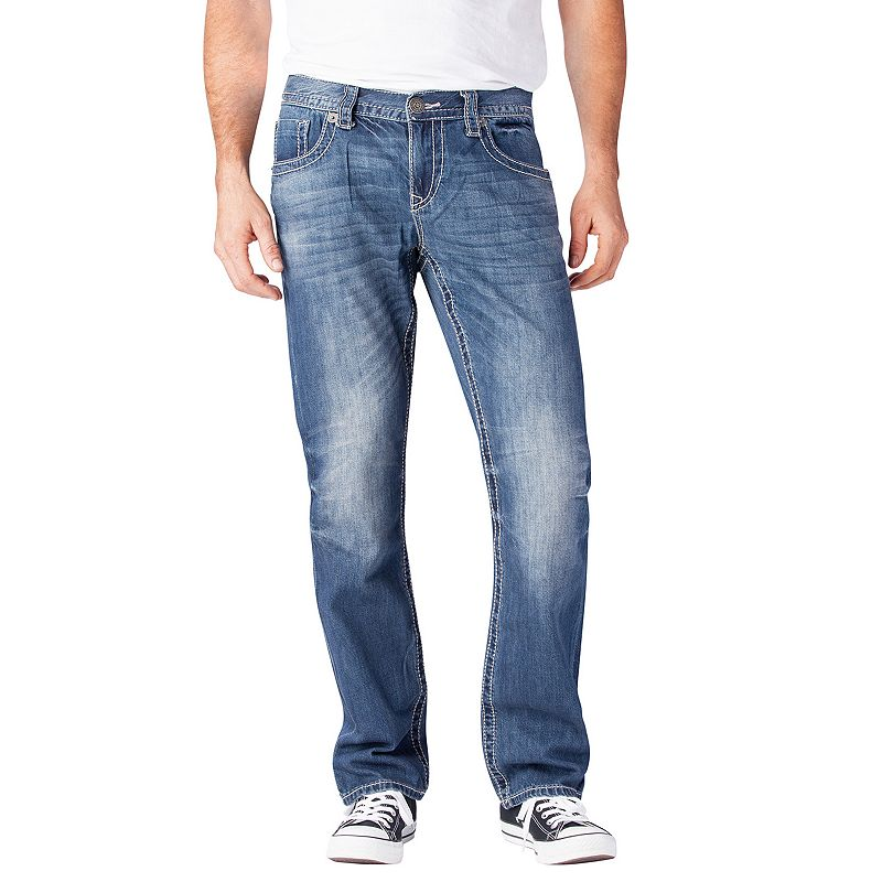 Men's Seven7 Belasco Luxury Straight Jeans, Size: 36X30, Brt Blue