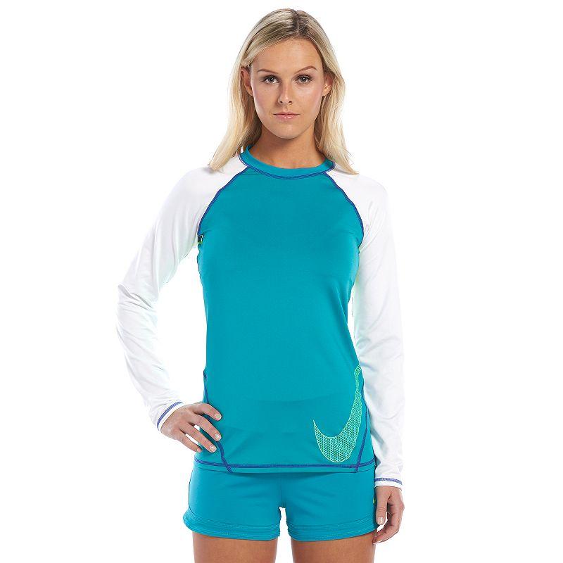 Women's Nike Colorblock UPF40+ Rash Guard