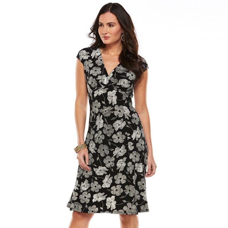 Women's Chaps Floral Empire Gored Dress