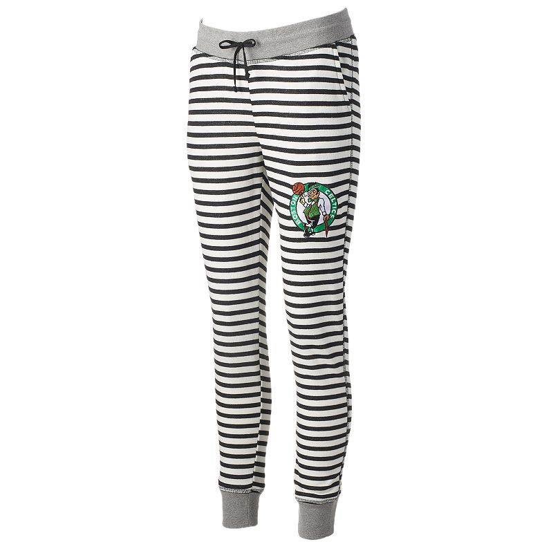 Women's Boston Celtics Bank Shot Striped Jogger Lounge Pants