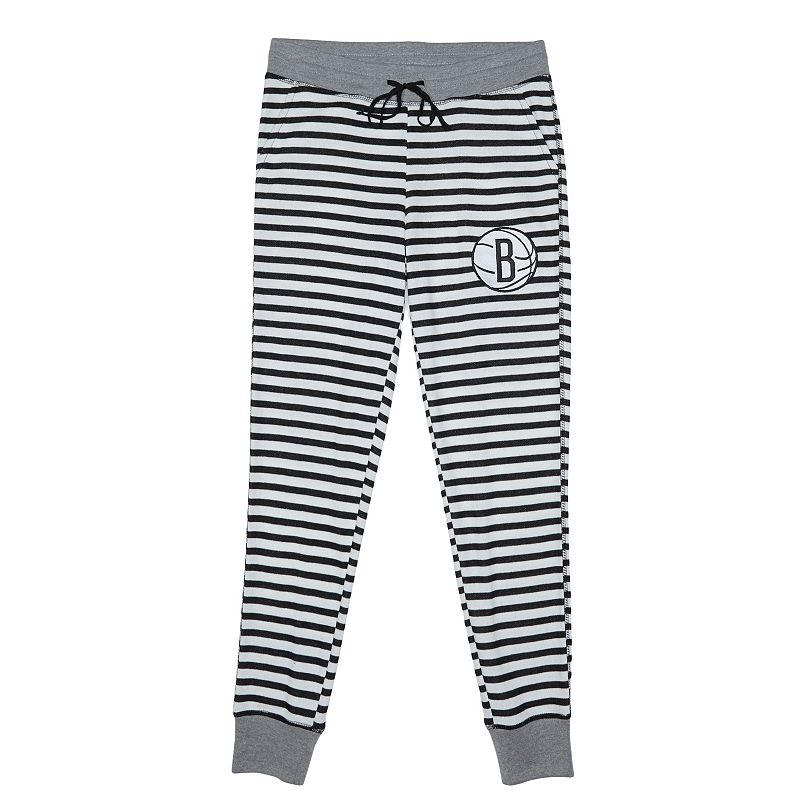 Women's Brooklyn Nets Bank Shot Striped Jogger Lounge Pants