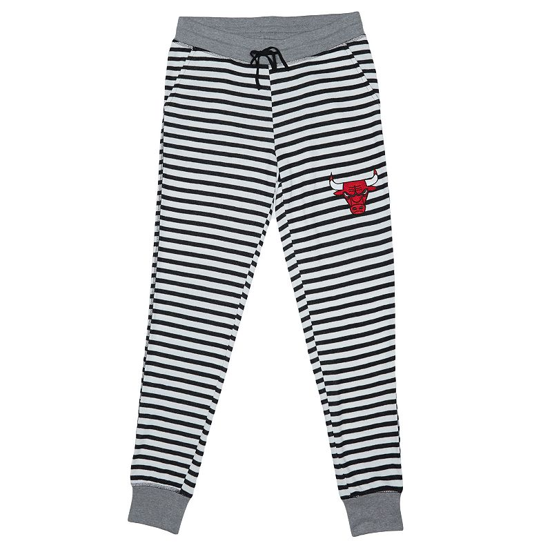 Women's Chicago Bulls Bank Shot Striped Jogger Lounge Pants