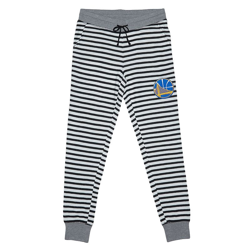Women's Golden State Warriors Bank Shot Striped Jogger Lounge Pants