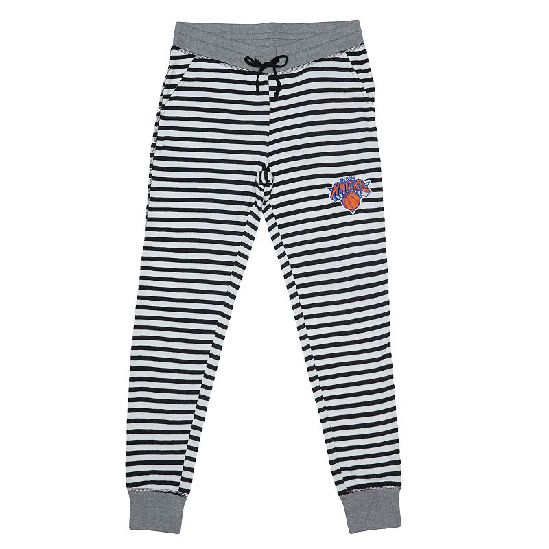 Women's New York Knicks Bank Shot Striped Jogger Lounge Pants