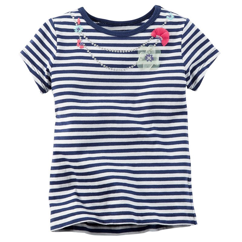 Girls 4-8 Carter's Necklace Stripe Tee