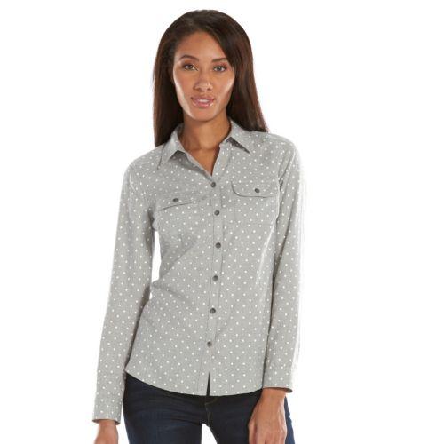 Croft & Barrow® Print Flannel Shirt - Women's