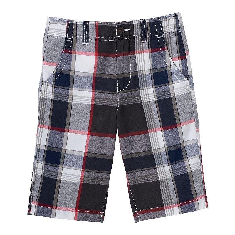 Boys 8-20 Urban Pipeline® Flat Front Plaid Shorts