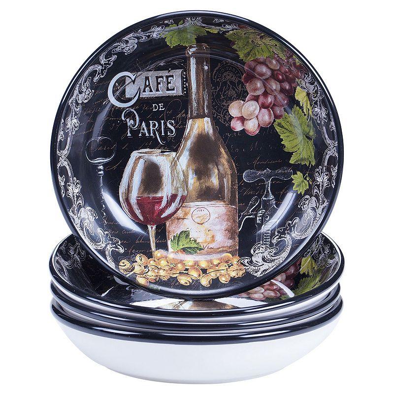 Certified International Grand Vin 4-pc. Pasta Bowl Set