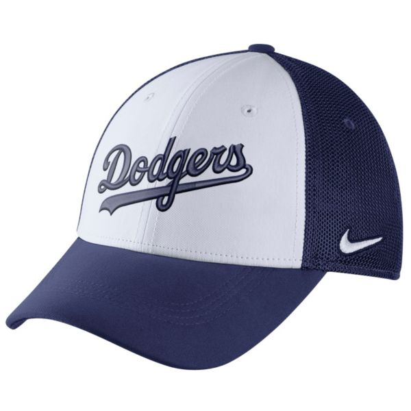 Adult Nike Los Angeles Dodgers Mesh Dri-FIT Flex Cap