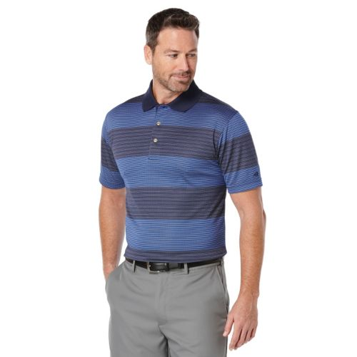 Men's Grand Slam Ombre Striped Performance Golf Polo