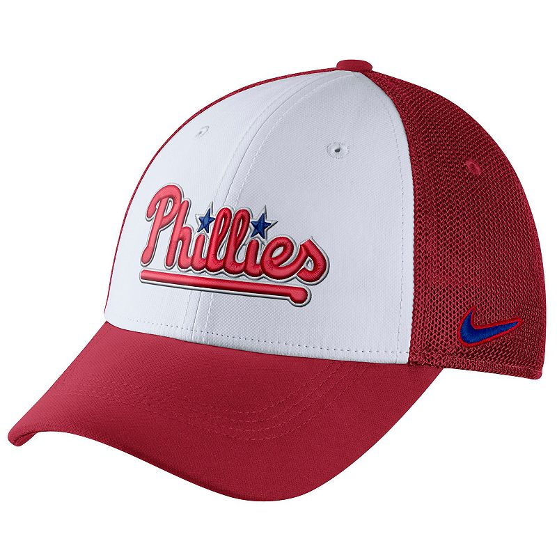 Adult Nike Philadelphia Phillies Mesh Dri-FIT Flex Cap
