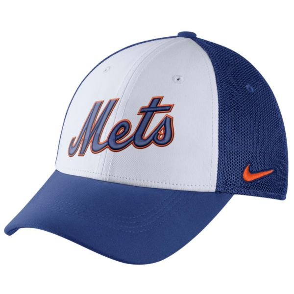 Adult Nike New York Mets Mesh Dri-FIT Flex Cap