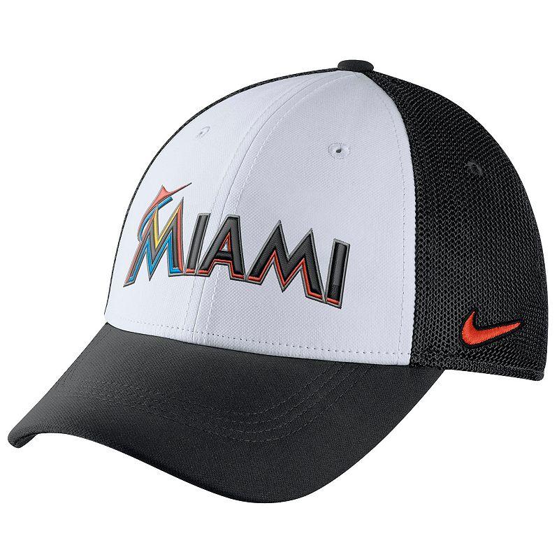 Adult Nike Miami Marlins Mesh Dri-FIT Flex Cap