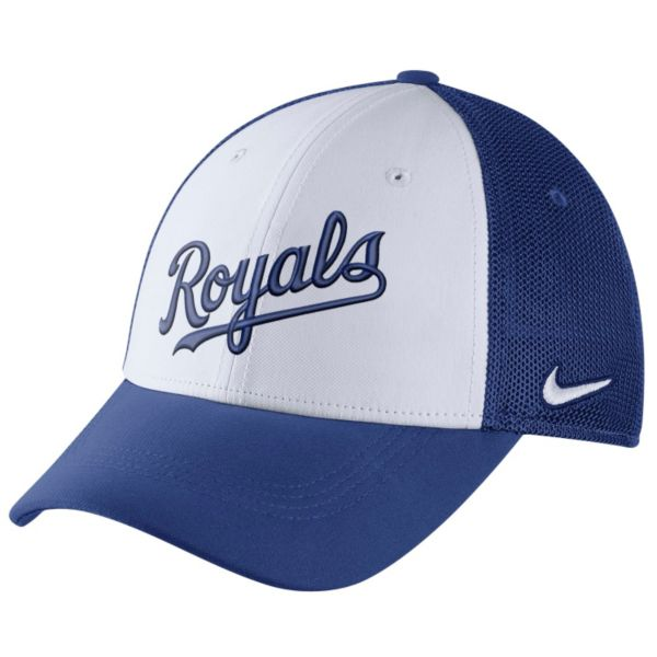 Adult Nike Kansas City Royals Mesh Dri-FIT Flex Cap