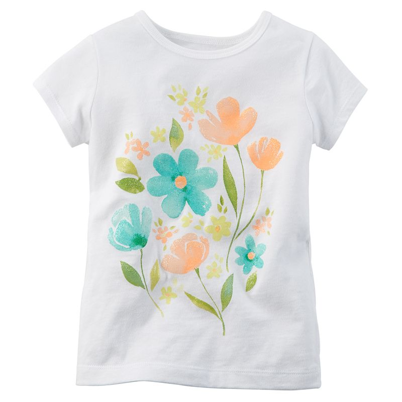 Girls 4-7 Carter's Floral Tee