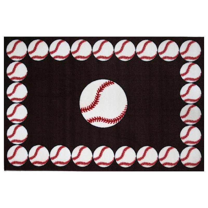 Fun Rugs Fun Time Baseball Time Rug