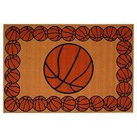 Fun Rugs Fun Time Basketball Time Rug