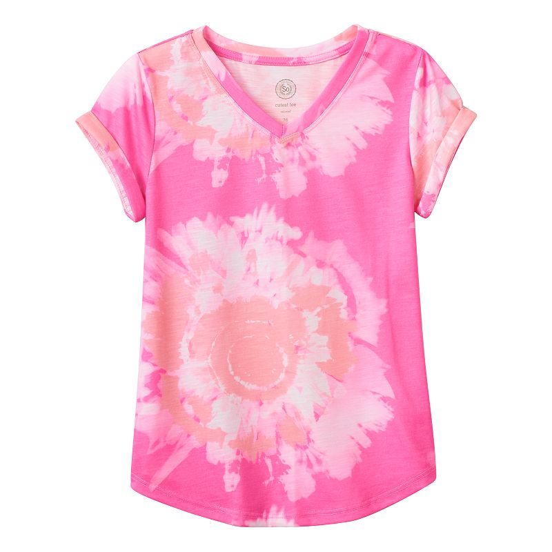 Girls 7-16 & Plus Size SO® V-Neck Cutest Tee