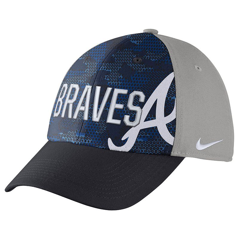 Adult Nike Atlanta Braves Woodland Camo Classic Flex Cap