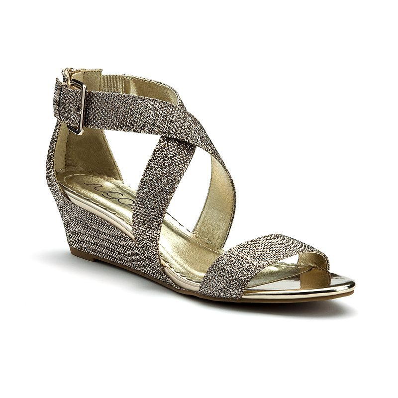 sugar Calla Women's Strappy Wedge Sandals