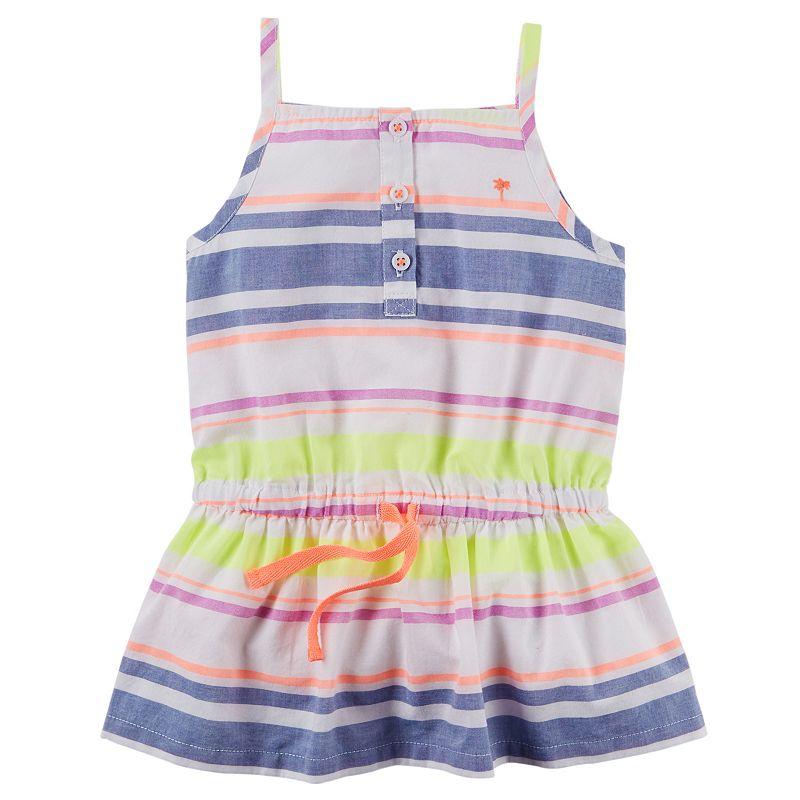 Baby Girl Carter's Striped Henley Tunic