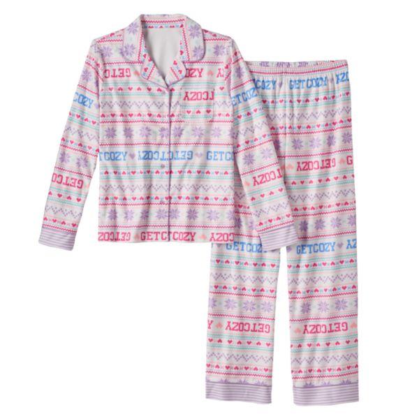 Girls 4-14 SO® Holiday Pajama Set