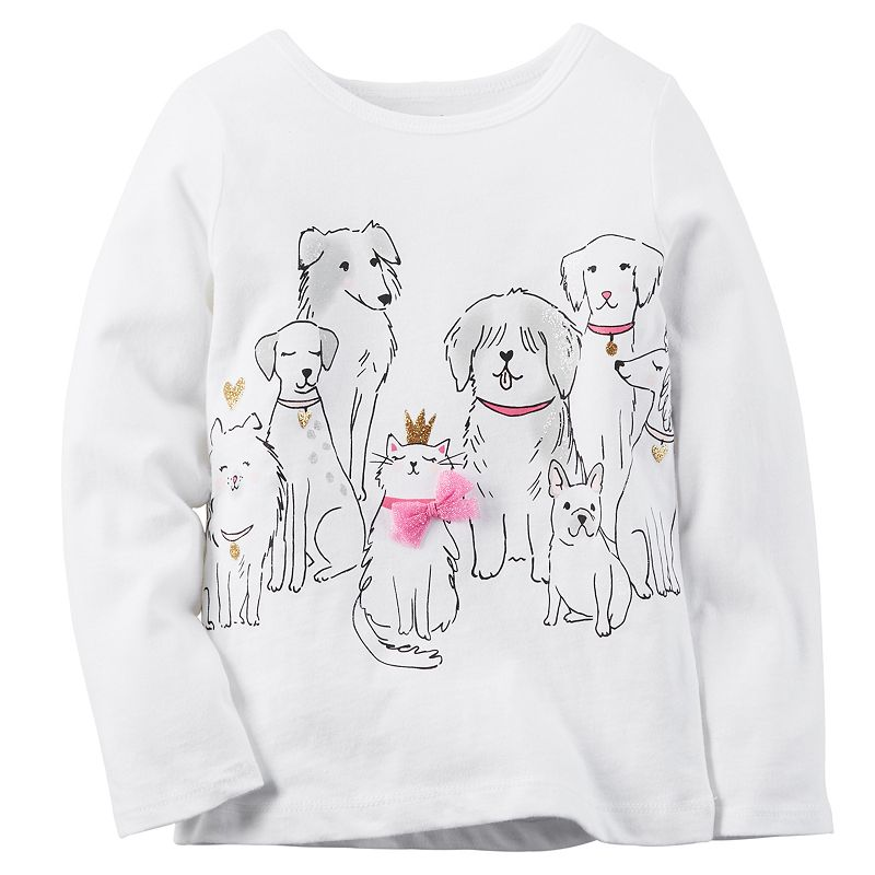 Baby Girl Carter's Cats & Dogs Tee