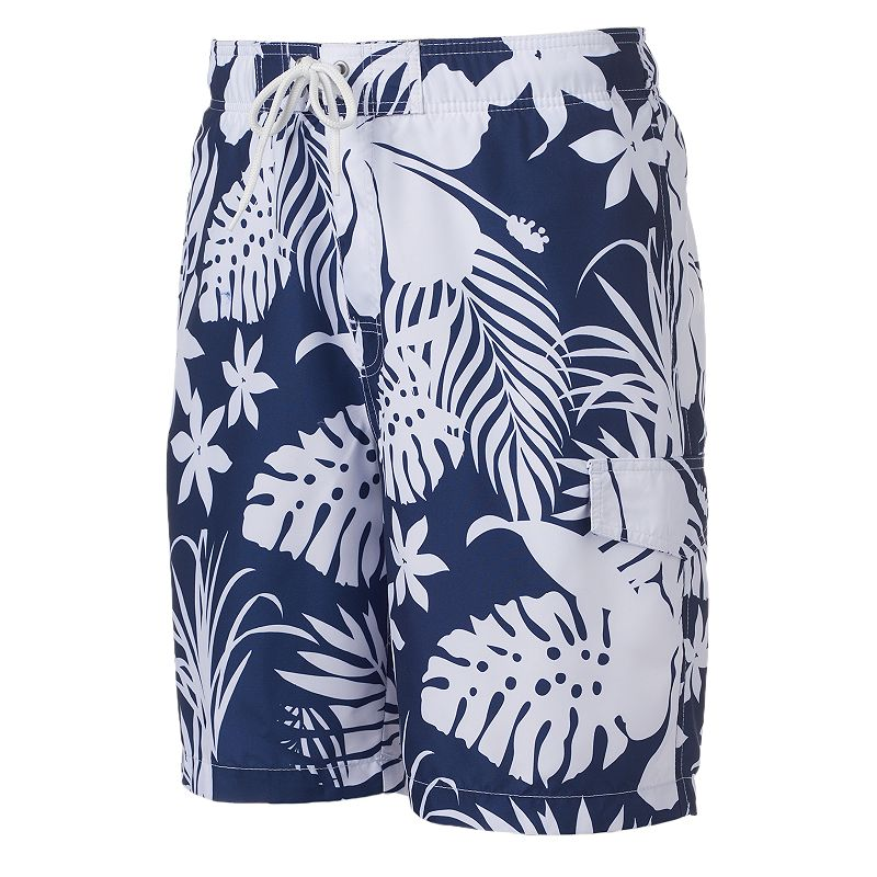 Big & Tall SONOMA Goods for Life™ Floral Microfiber Swim Trunks