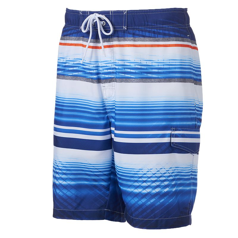 Big & Tall SONOMA Goods for Life™ Water Line Striped Microfiber Swim Trunks