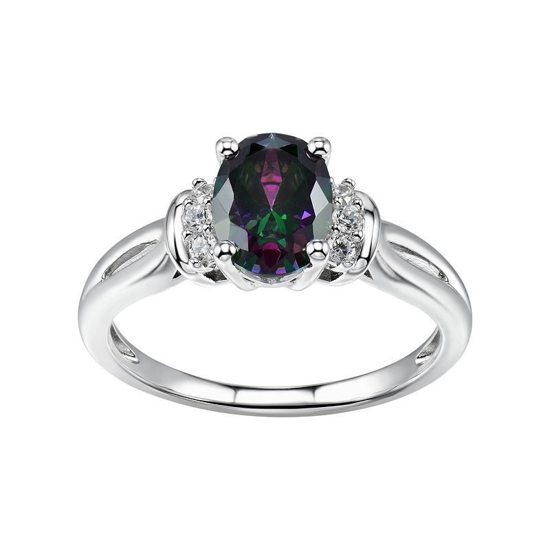 DiamonLuxe Sterling Silver 2 1/5 Carat T.W. Simulated Diamond Ring