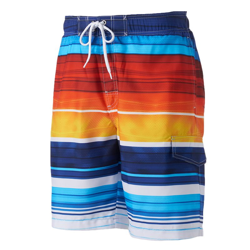 Big & Tall SONOMA Goods for Life™ Striped Microfiber Swim Trunks