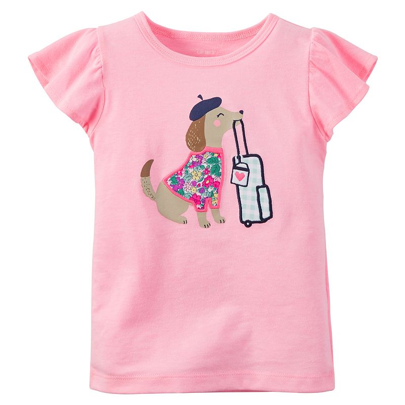 Baby Girl Carter's Puppy Tee