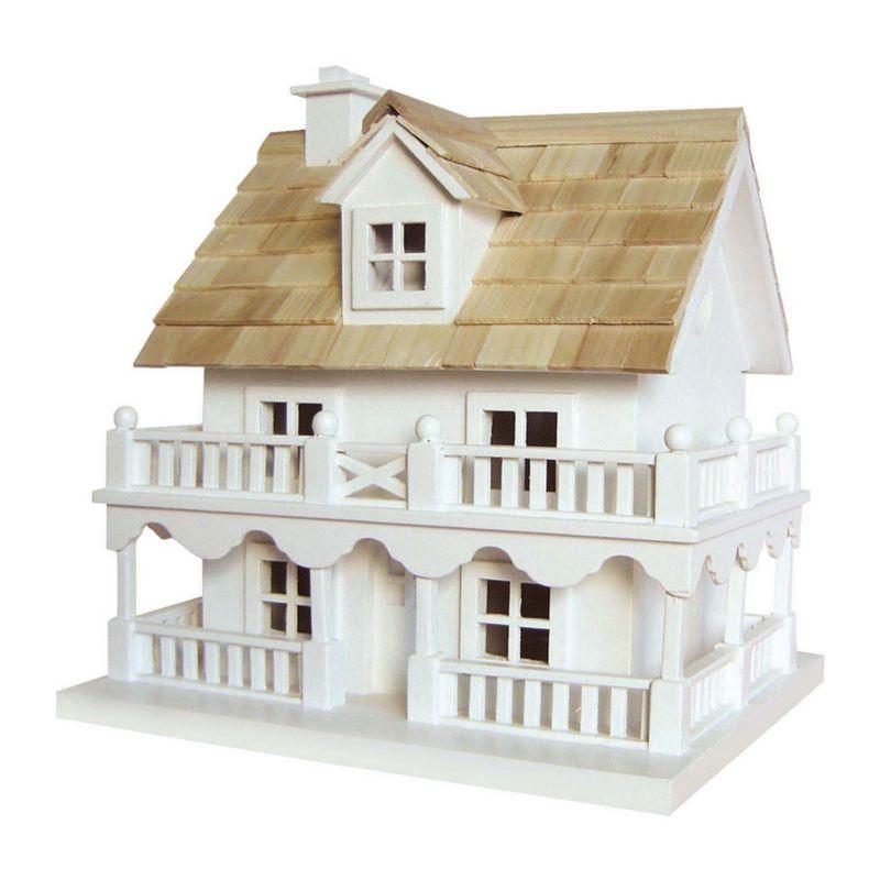 Home Bazaar Indoor / Outdoor Novelty Cottage Bird House, White
